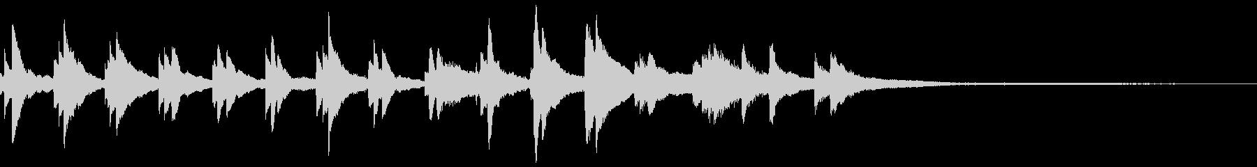 和風のジングル12-ピアノソロの未再生の波形
