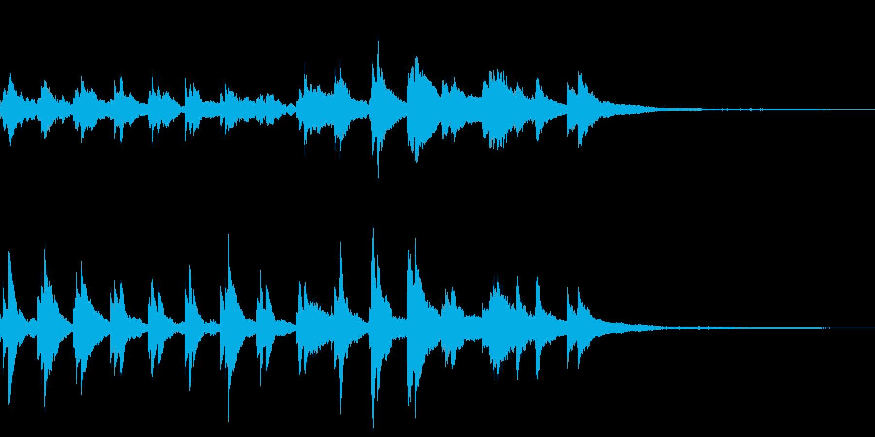 和風のジングル12-ピアノソロの再生済みの波形