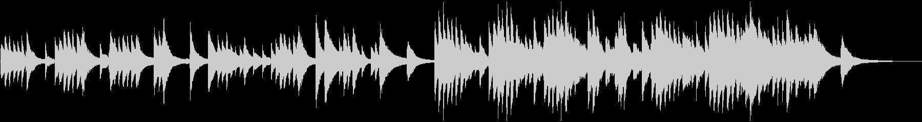アンニュイで物憂げなピアノソロの未再生の波形