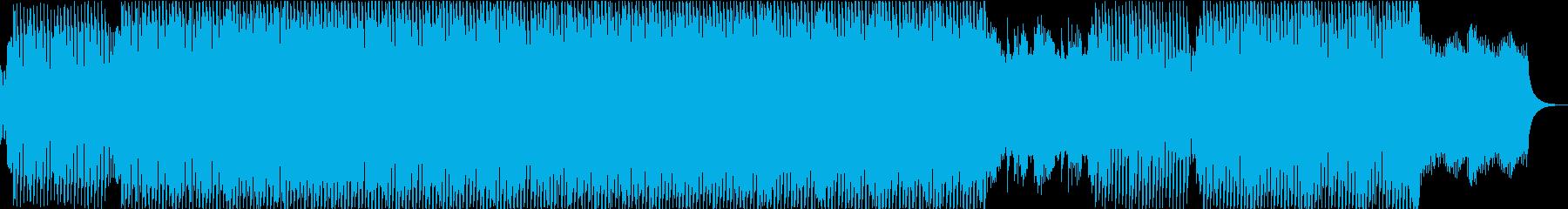 ノリの良い三味線と尺八と琴のテクノの再生済みの波形