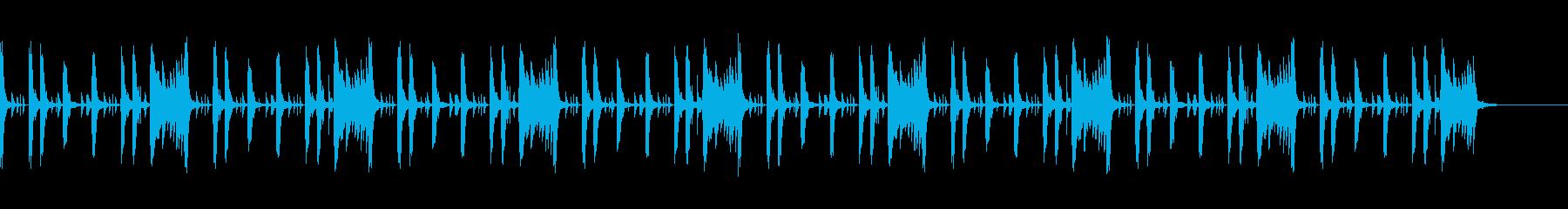 コミカルで軽快なピアノ木琴ループの再生済みの波形