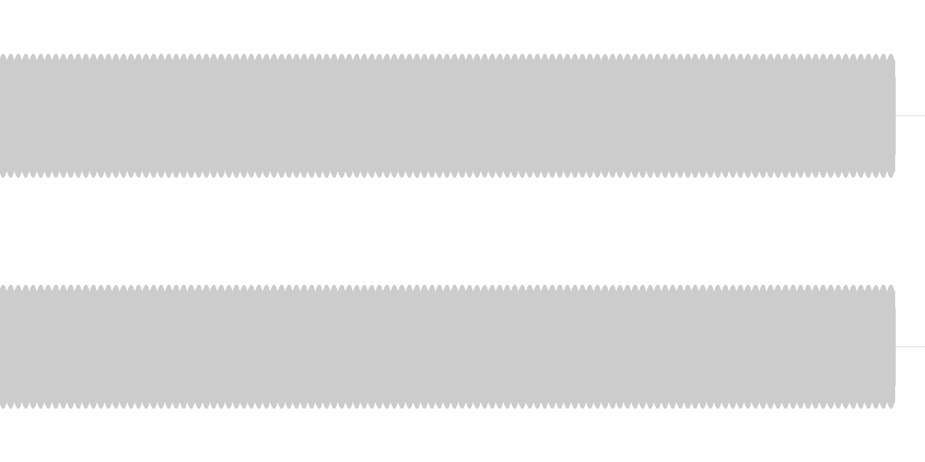 ブーーーー Beep音 エラー音の未再生の波形