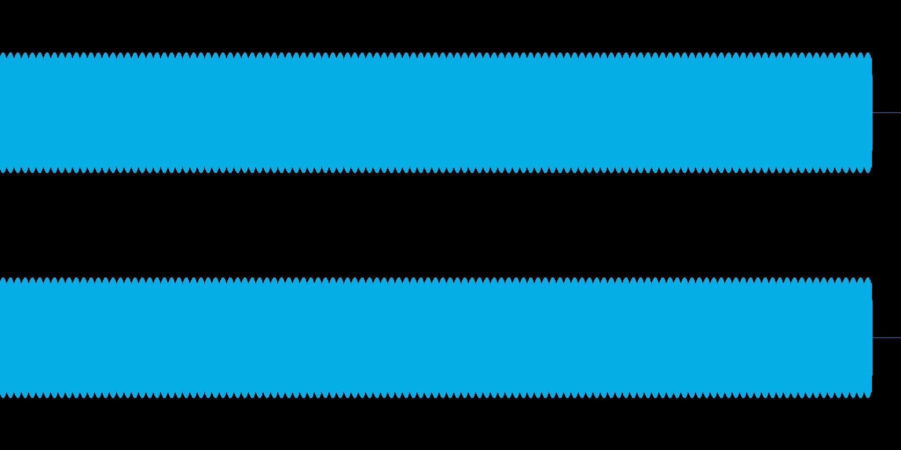 ブーーーー Beep音 エラー音の再生済みの波形