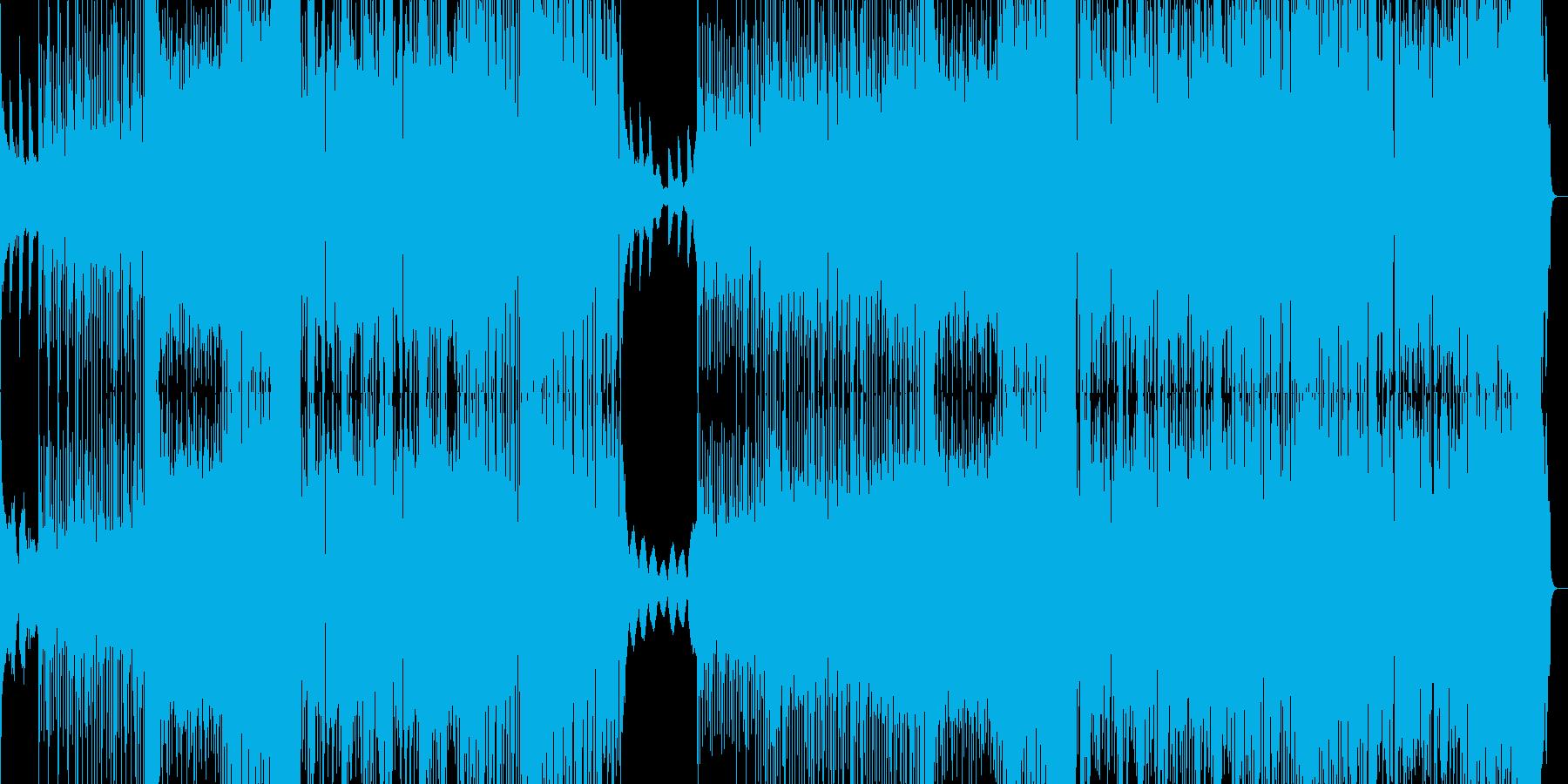キラキラした感じのフューチャーベースの再生済みの波形