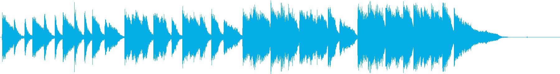光を遮断するピアノソロの再生済みの波形