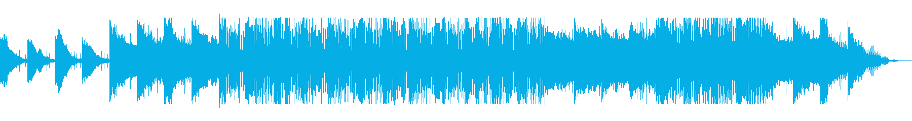 滑らかなピアノのストリングハウス音の再生済みの波形