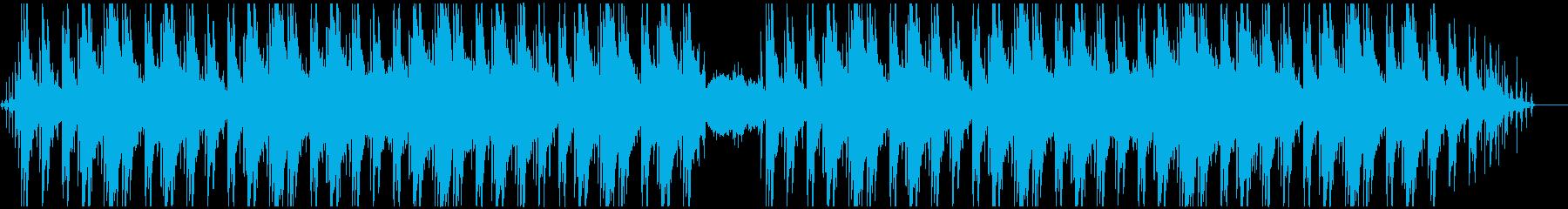 ピアノと足音と環境音のチルの再生済みの波形