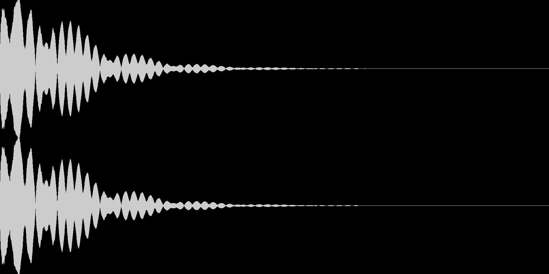 キュイン(飛ばされて星になる タイプ3)の未再生の波形