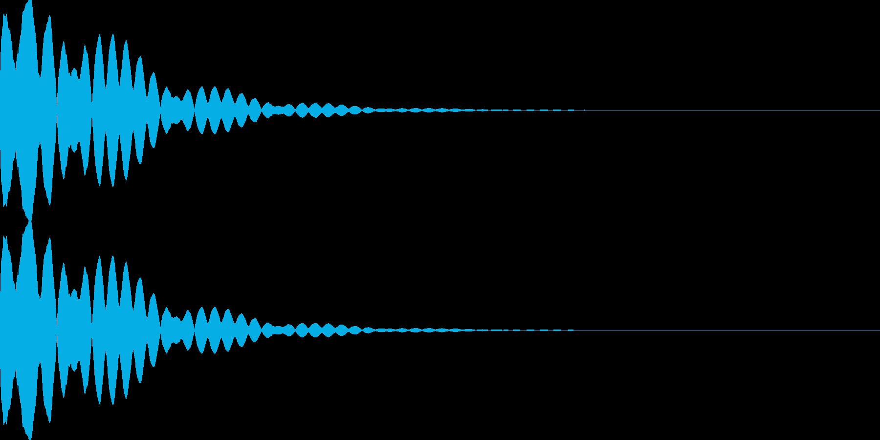 キュイン(飛ばされて星になる タイプ3)の再生済みの波形