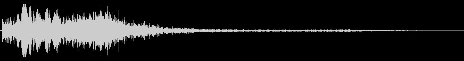 ホラー系アタック音1の未再生の波形
