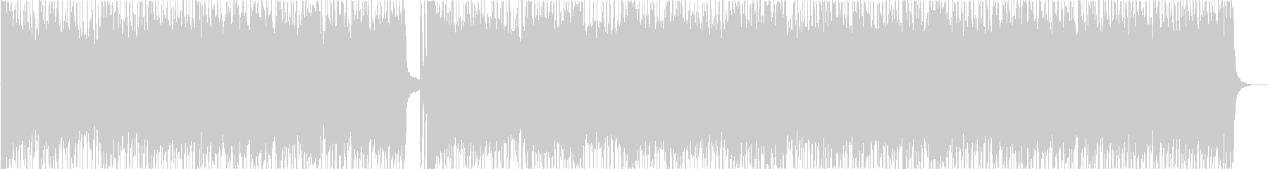 ビートの効いた古典的ロックンロールの未再生の波形