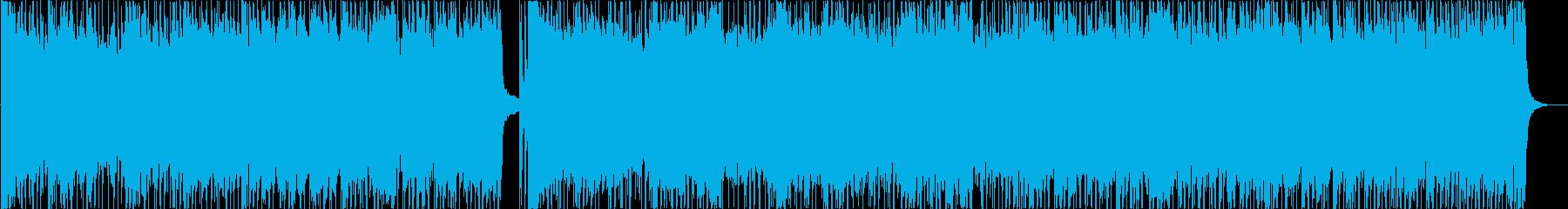 ビートの効いた古典的ロックンロールの再生済みの波形