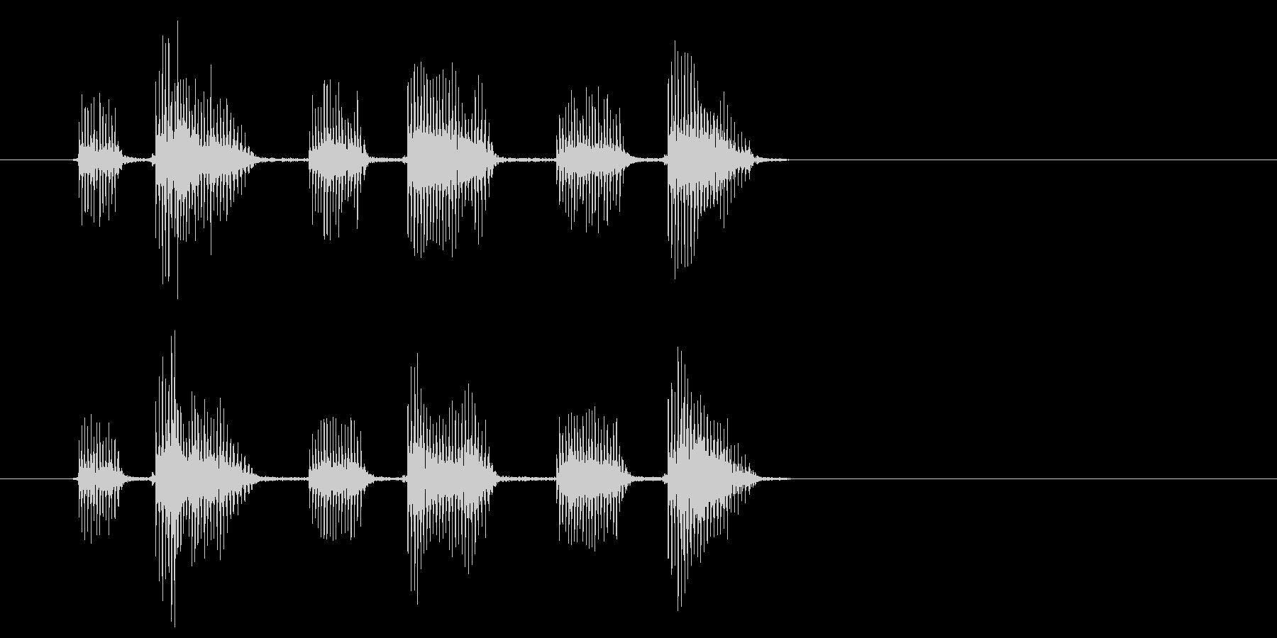 ボヤボヤ・・(宇宙人の不気味な話し声)の未再生の波形