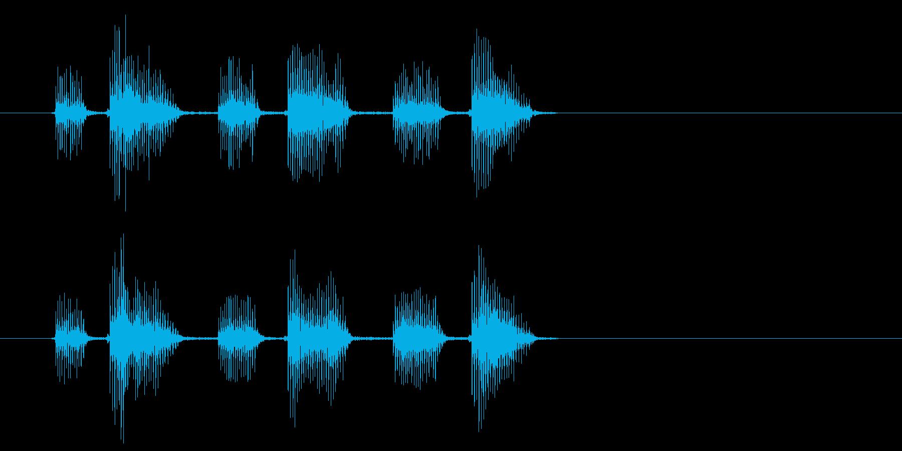 ボヤボヤ・・(宇宙人の不気味な話し声)の再生済みの波形