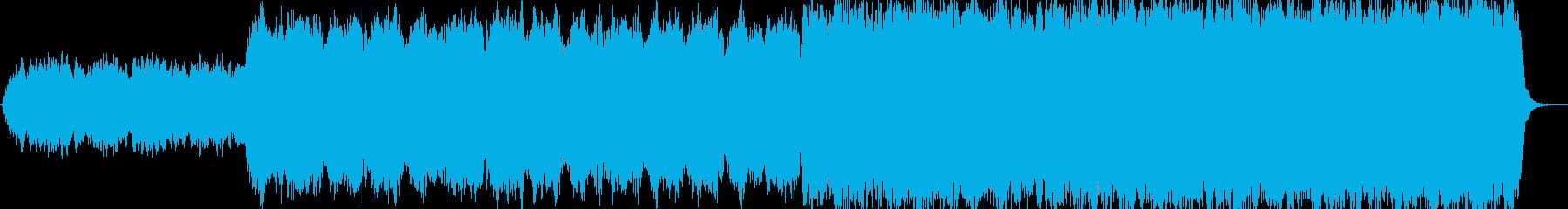 サウンドトラックの大気と神秘的な音楽。の再生済みの波形