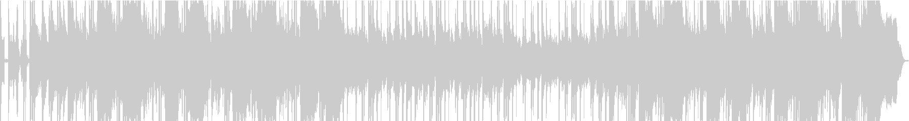 クールなヒップホップBGMの未再生の波形