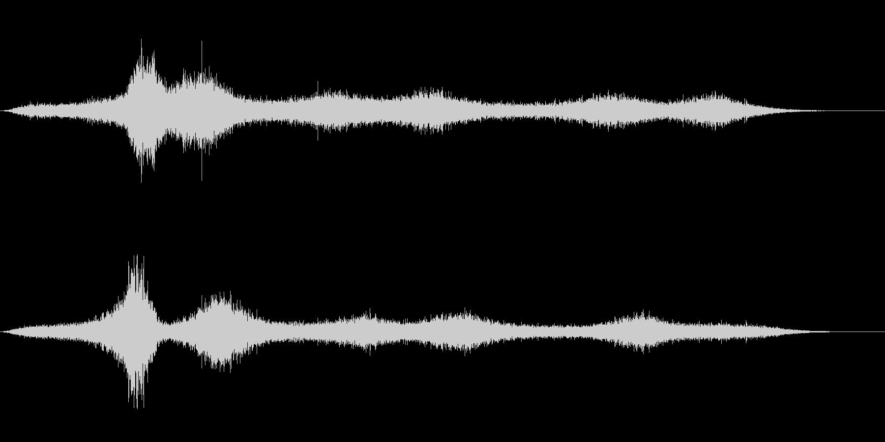 【生録音】 早朝の街 交通 環境音 15の未再生の波形