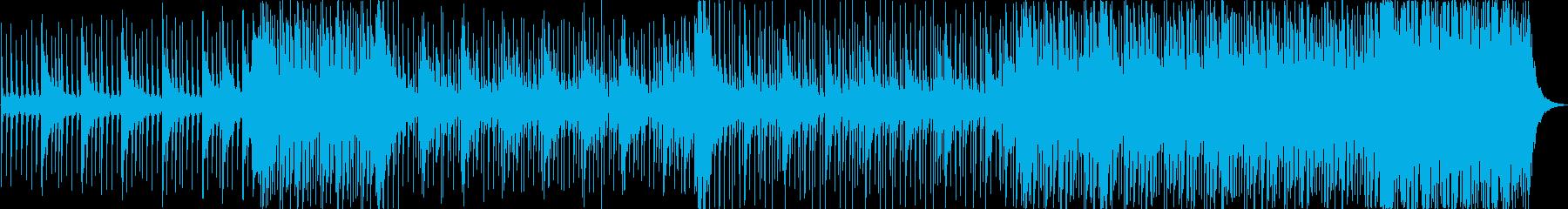 鼓動を表現した躍動感溢れる和太鼓BGMの再生済みの波形