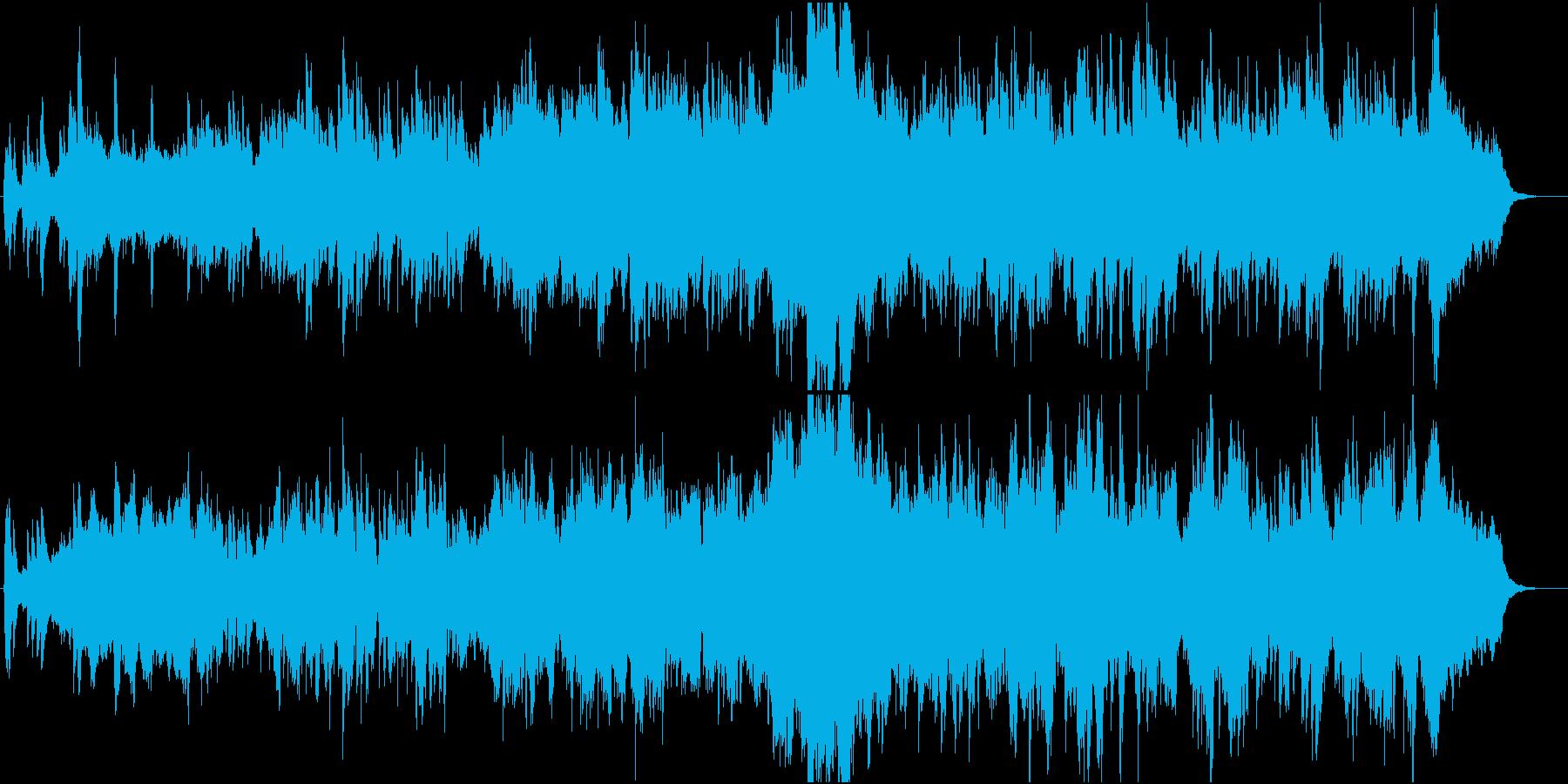郷愁の場面に優しく前向きなオーケストラ1の再生済みの波形