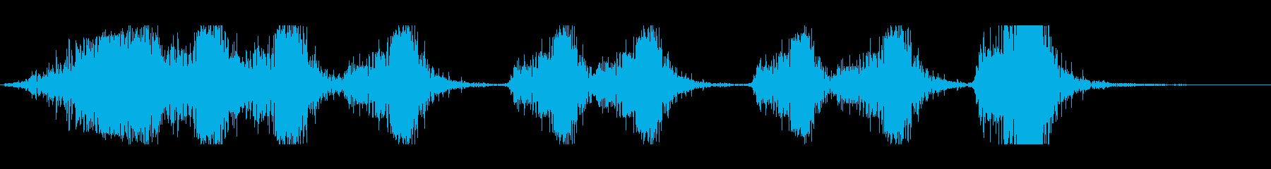 複数矢印矢印、ウッドインパクト、ス...の再生済みの波形