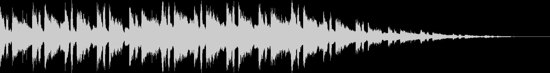 儚げな雰囲気のBGMの未再生の波形