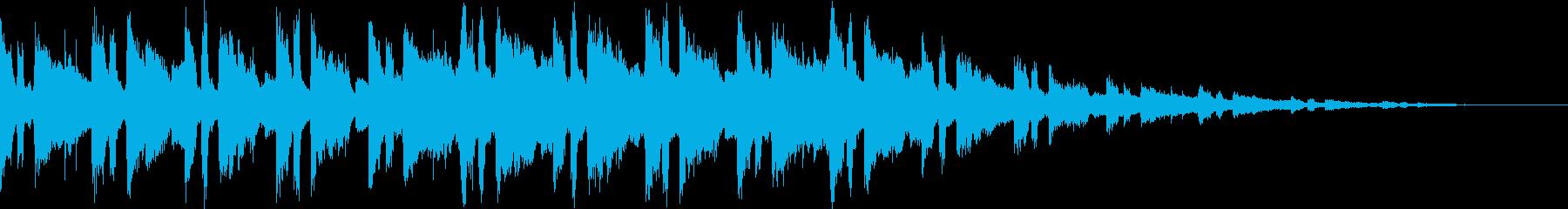儚げな雰囲気のBGMの再生済みの波形