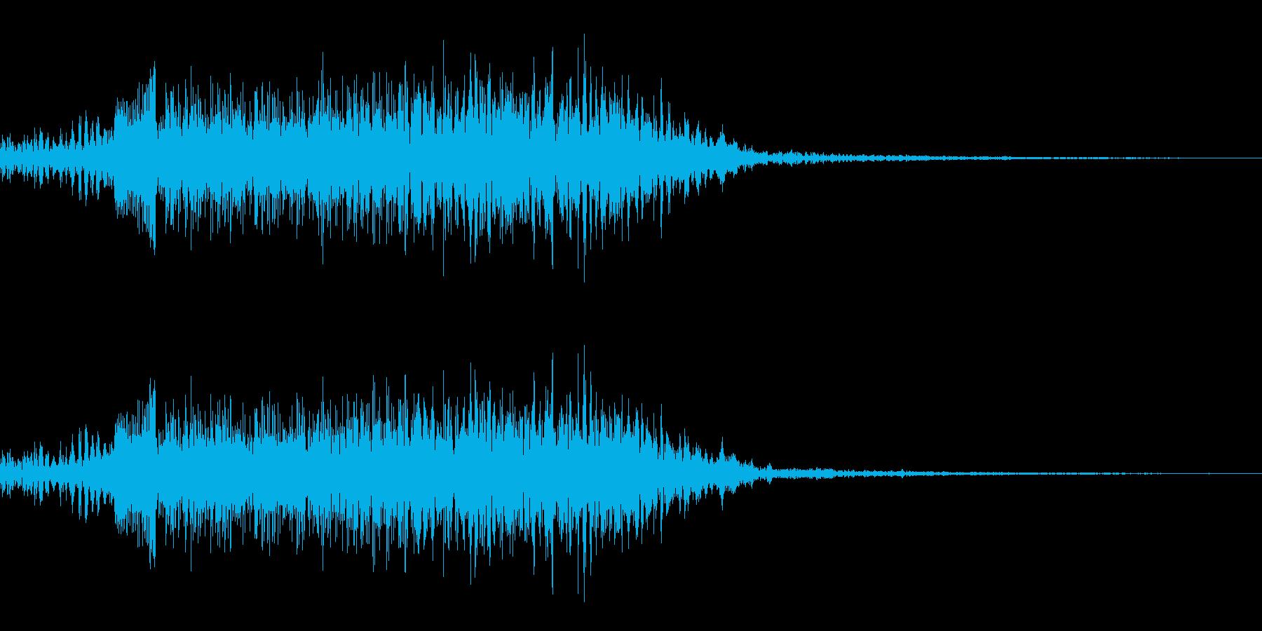 鳴き声02(イノシシ、ブタ系)の再生済みの波形