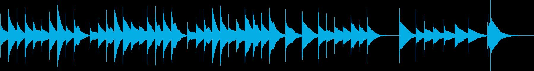 オルゴールの優しいショートミュージックの再生済みの波形