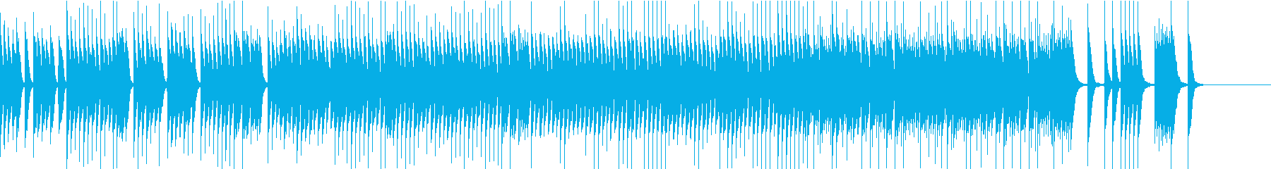 かわいく軽快リズミカルなピアノソロの再生済みの波形
