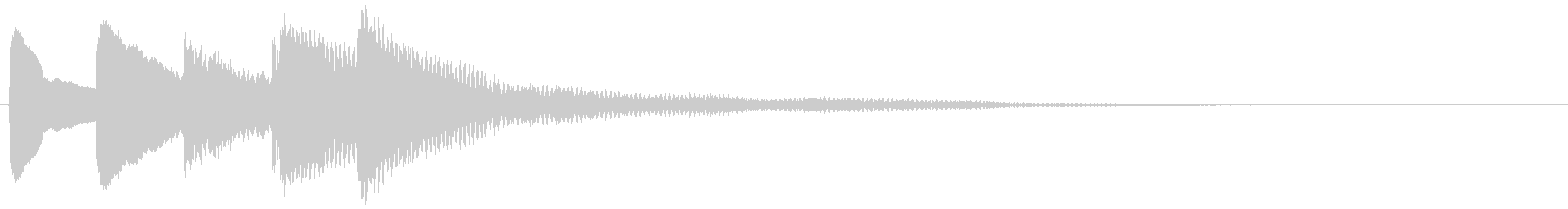「はっ」とするような印象を与えるピアノの未再生の波形
