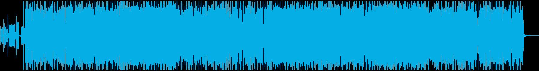 スロー/ミドルテンポのギターロックの再生済みの波形