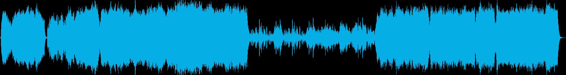 ゆったりとしたオーケストラの再生済みの波形