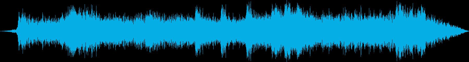 ラジオ制作シーン:ホラー背景音楽付...の再生済みの波形