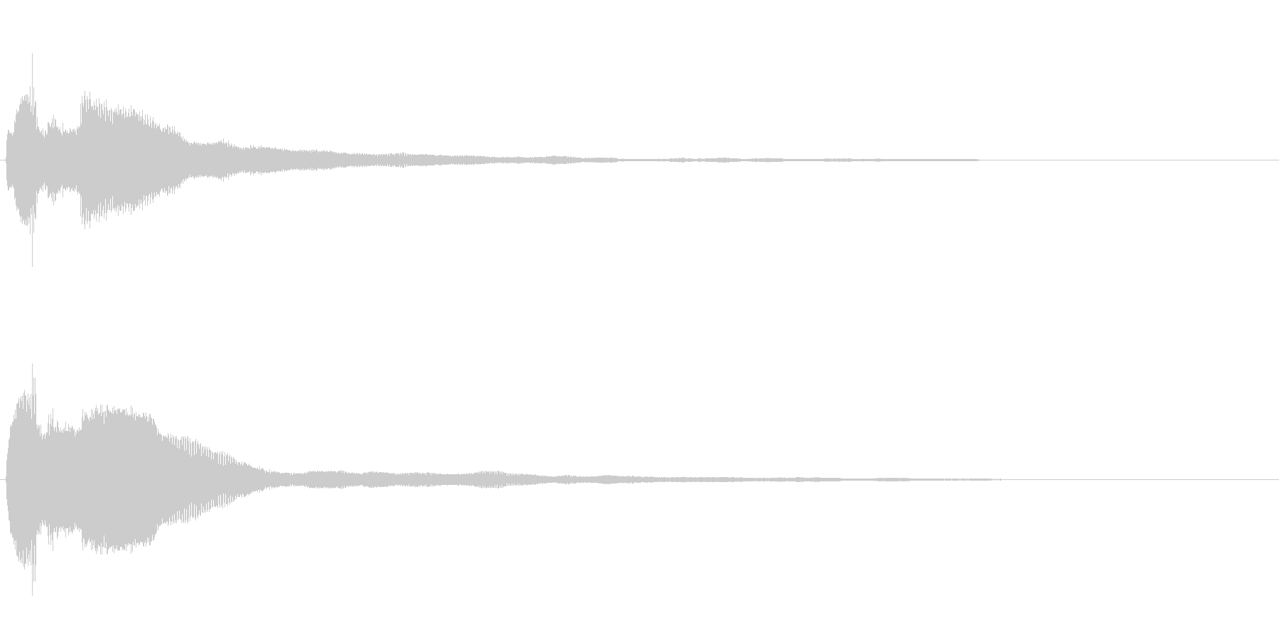 キラッ(決定/魔法/クイズ)の未再生の波形