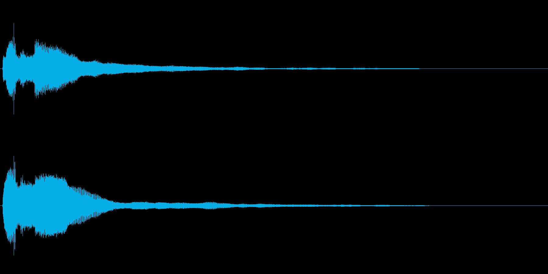 キラッ(決定/魔法/クイズ)の再生済みの波形