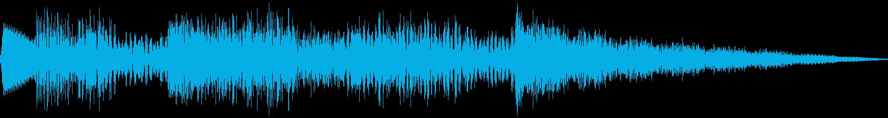 タンブリングノートロゴの再生済みの波形