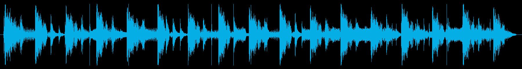 ベース生演奏のクールスラップジングル03の再生済みの波形