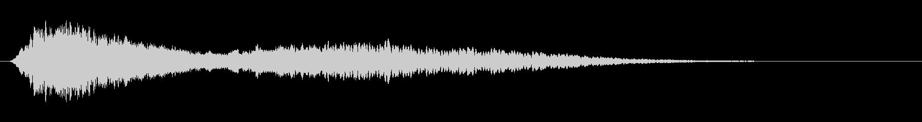 スタブリバーブ付き高周波電子音スタブの未再生の波形