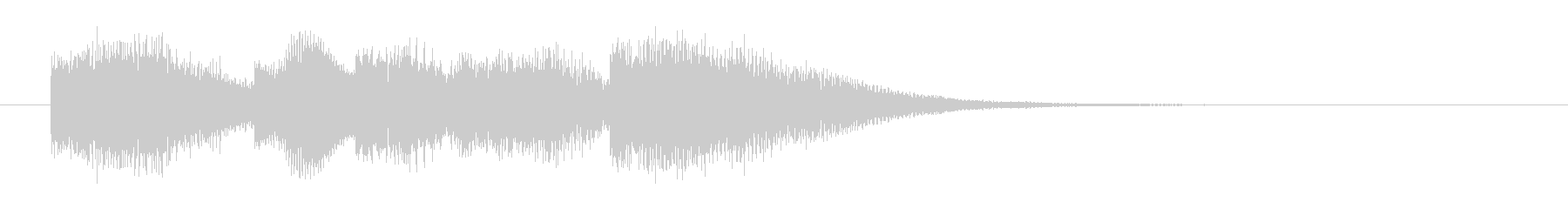 爽やかエレクトリックピアノのサウンドロゴの未再生の波形