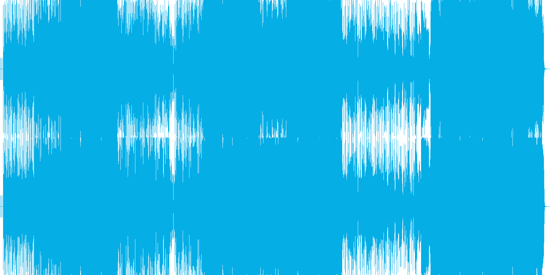パワフルなラブシーソーの再生済みの波形