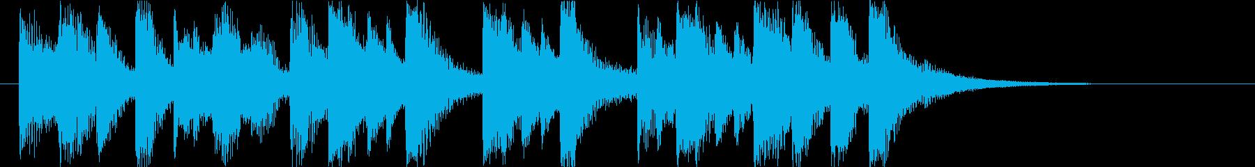 コミカルで楽しいライトなオーケストラロゴの再生済みの波形