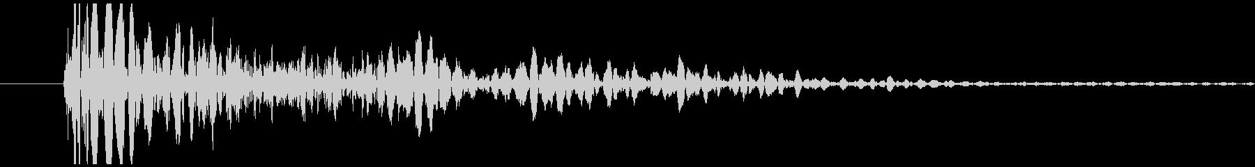 SFメカの足音の未再生の波形