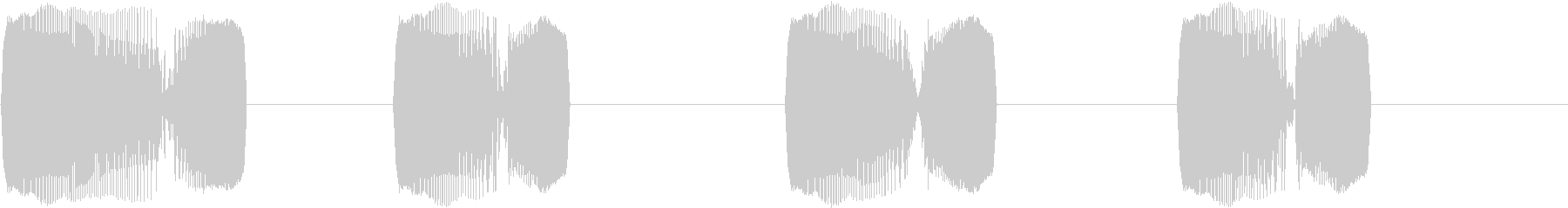 DJプレイ スクラッチ・ノイズ 13の未再生の波形