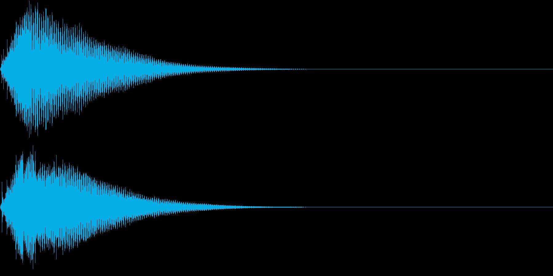 キュイン ボタン ピキーン キーン 5の再生済みの波形