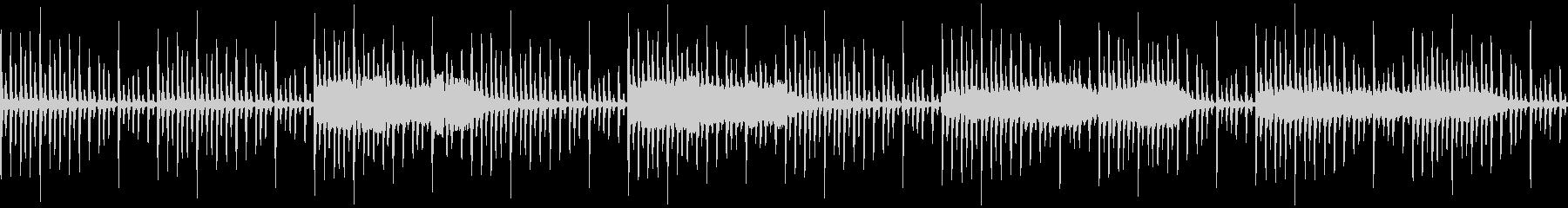8bitで浮遊感あるBGMの未再生の波形