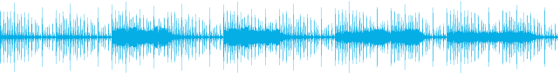 8bitで浮遊感あるBGMの再生済みの波形