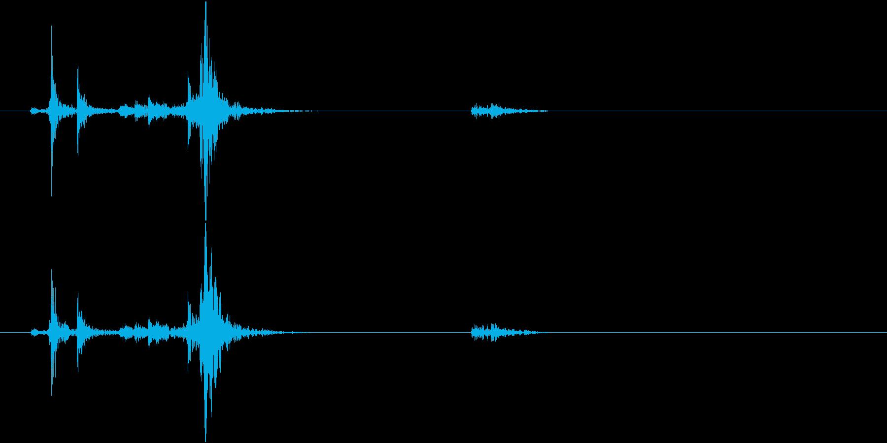 【生録音】 Unlock 鍵を開ける音の再生済みの波形