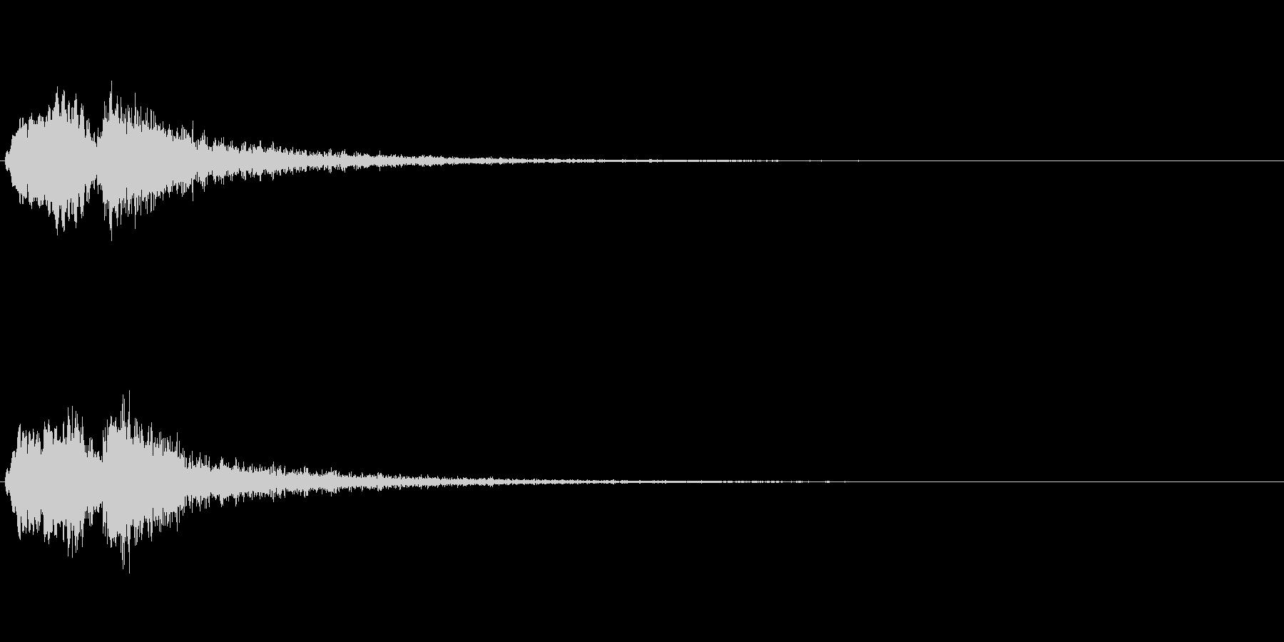 Vox 不気味な鳴き声 ホラーSE 3の未再生の波形