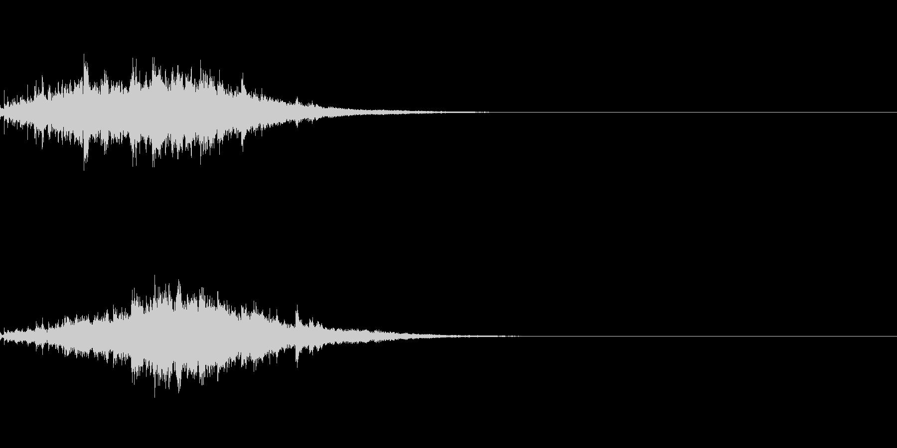 ウインドチャイム001の未再生の波形