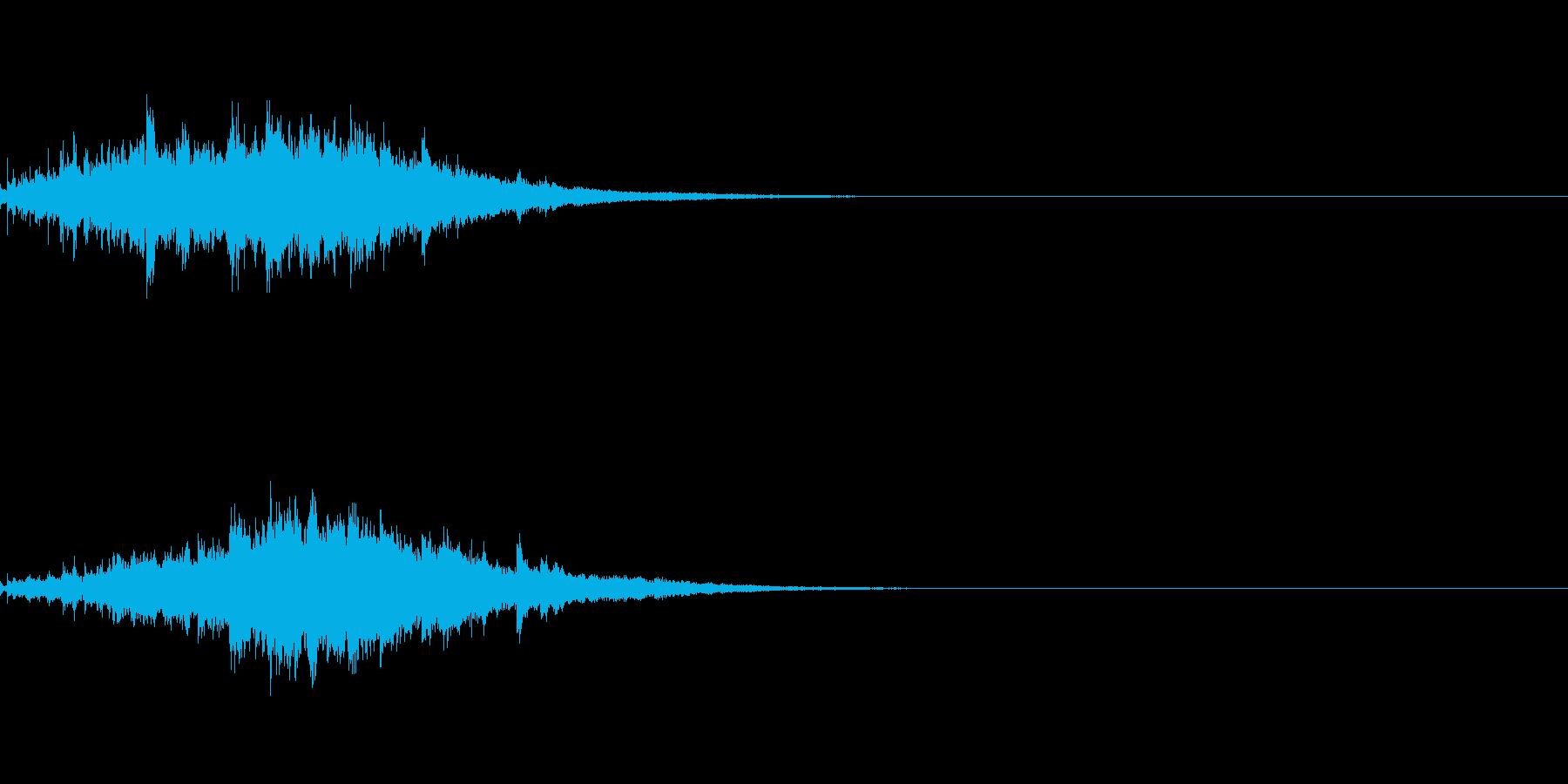 ウインドチャイム001の再生済みの波形